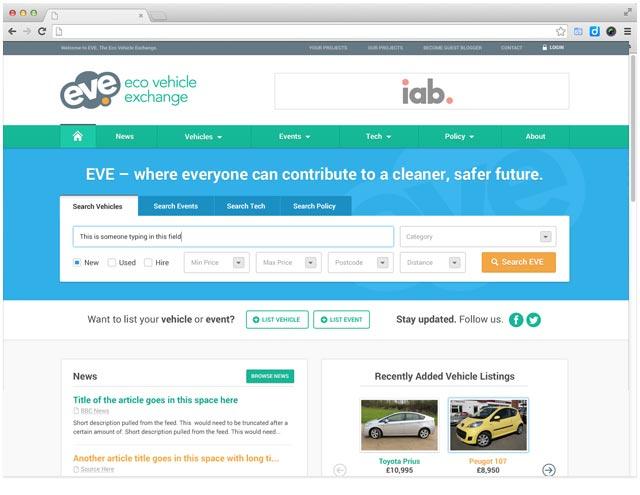 web-design-for-eco-vehicle-sales