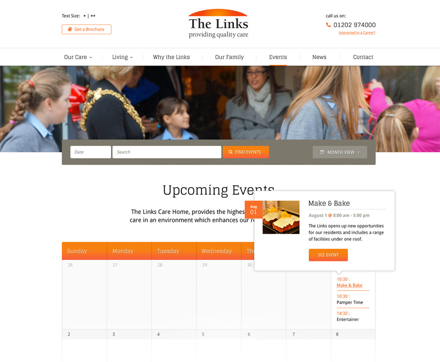 web design for care home in poole the links authenticstyle home interior events june 2015