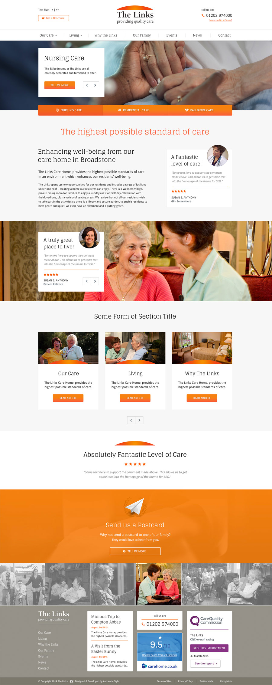 Awesome Care Home Website Design Photos - Amazing House Decorating ...