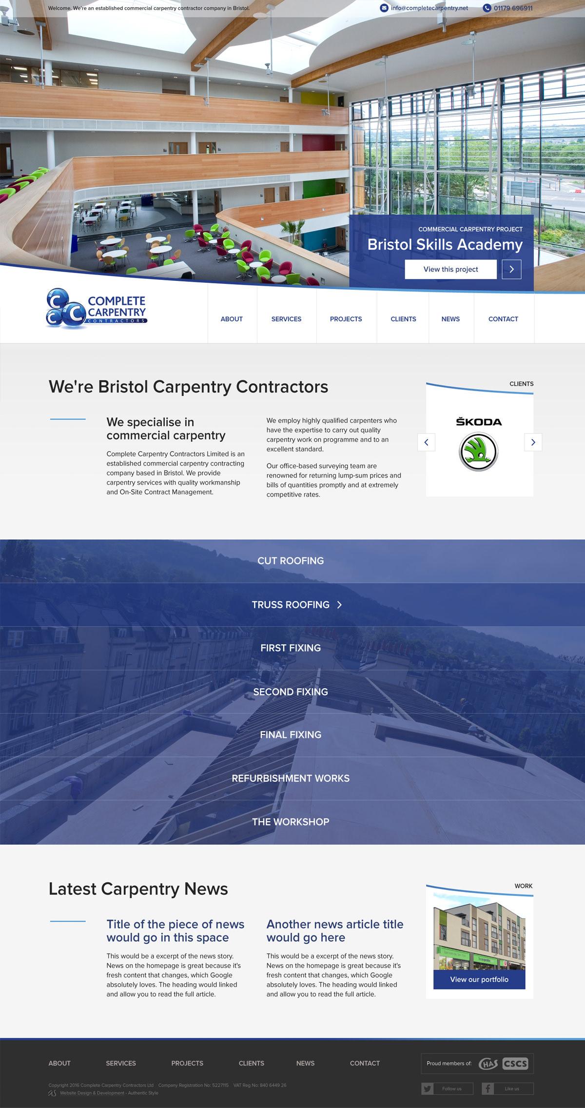 carpentry-contracors-bristol-new-website-design