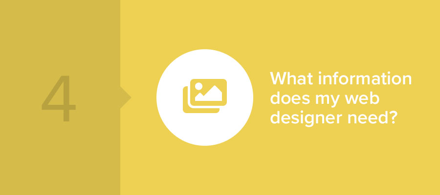 what information does my web designer need?