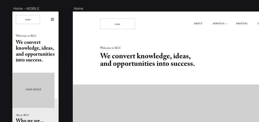 wireframes - web design services